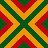 Vector seamless pattern of Reggae colors flag for cushion, blanket, pillow, plaid, t-shirt graphics, cloth, poster.