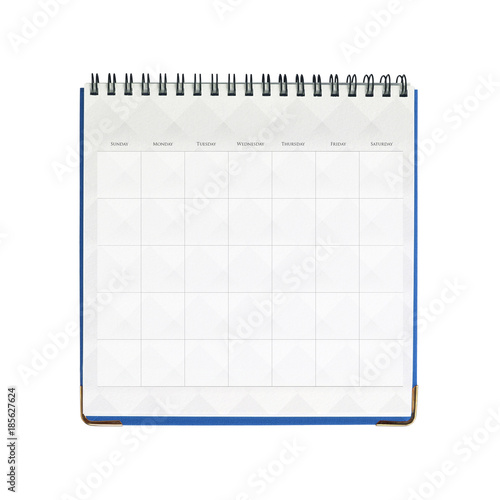 White blank Calendar isolated on white background with clipping mask Poster