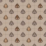 Poo Cartoon doodle vector illustration Seamless Pattern isolated wallpaper background - 185635041