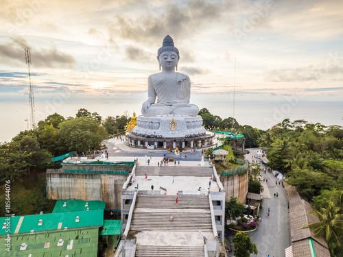 Tuinposter Boeddha Big Buddha Phuket Aerial View HDR