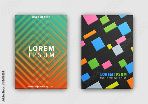 Set of Two Cover Patterns on Vector Illustration © robu_s