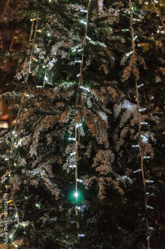 Aluminium Palm boom christmas tree in the city