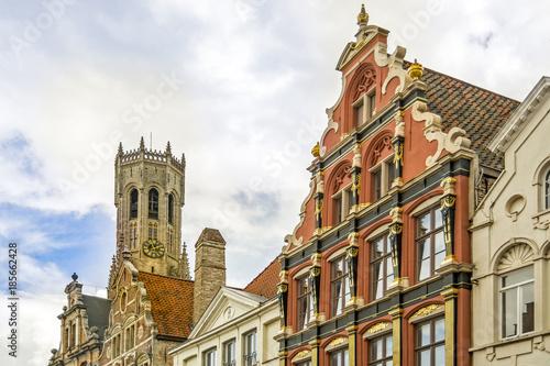 Fotobehang Brugge Urban landscape in Bruges, Belgium