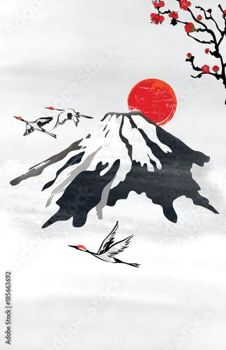 japonski-styl-tlo-dla-karty-z-pozdrowieniami-w
