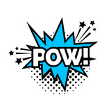Pow lettering with explosion - 185666023