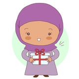 Девочка с подарком - 185674479