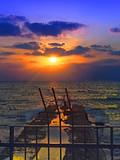Migrations: Beautiful Sunset on the Mediterranean Sea