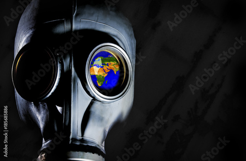 Gas Mask - World Map Poster