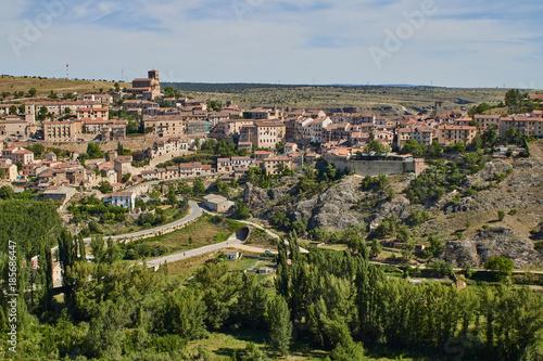 Fotobehang Parijs Sepulveda town in Segovia province, Spain