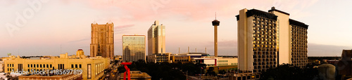 Fototapeta San Antonio Skyline Wide Panoramic South Central Texas
