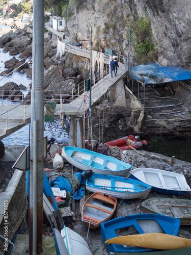 Foto op Plexiglas Liguria porto storico di pescatori in liguria