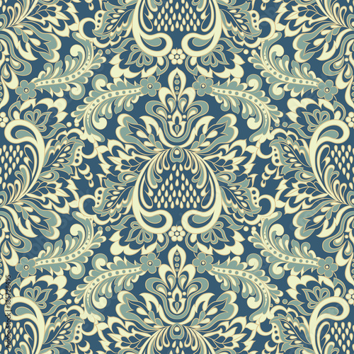vintage floral seamless patten. Classic Baroque wallpaper