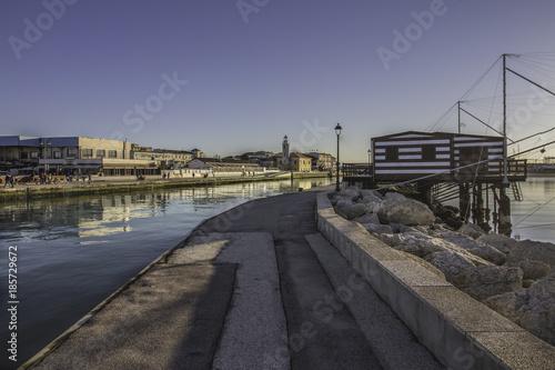In de dag Spoorlijn Porto Di Cesenatico