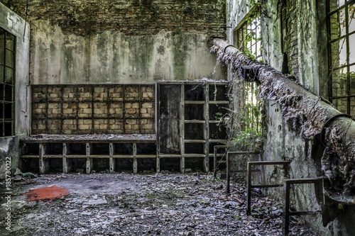 Foto op Aluminium Khaki All'interno dell'EX Zuccherificio Eridania, Forlì 7