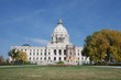 Exterior daytime stock photo of Minnesota state capital building in St. Paul Minnesota in Ramsey County