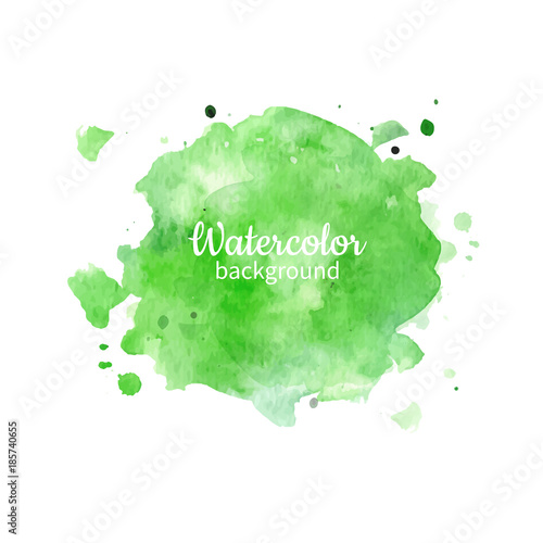 Fototapeta Watercolor geen abstract hand painted background. Watercolor vec