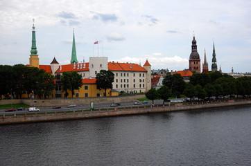 ラトビアのリガの街並み