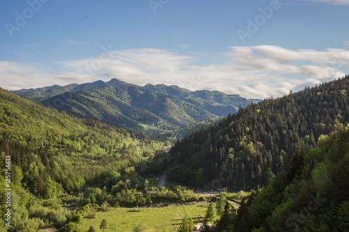 Fotobehang Zwart Berge