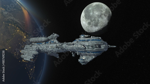 abstrakcja,-statek-kosmiczny,-kosmos,-galaktyka