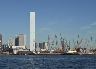 日本の東京都市風景「晴海方面などを望む」