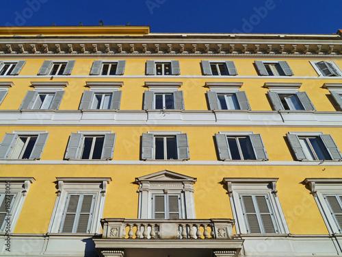 Fotobehang Rome Rome, pastel colored apartment building