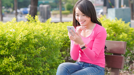 woman use phone