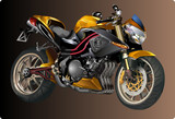 Fototapety Beautiful Sports bike vector illustration on brown background