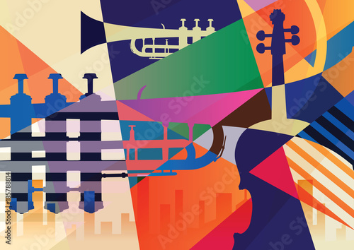 Abstract Jazz poster, music background © Yevhen