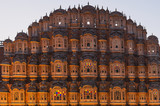 Detail of the Hawa Mahal,  Palace of Winds in the evening light, Jaipur, Rajasthan, India - 185796091