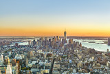 specular sunset skyline of New York