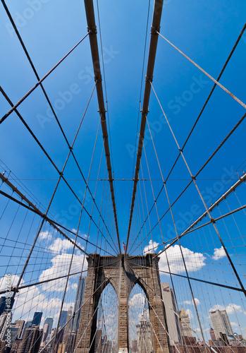 Fotobehang Brooklyn Bridge New York City, USA