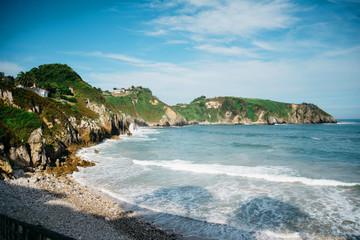 Beautiful beach Playa De Amio in Spain