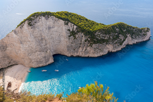 Foto op Canvas Schipbreuk Famous Shipwreck beach. Beach of Navagio, Zakynthos, Greece.