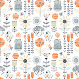 Colorful seamless floral pattern - 185855892