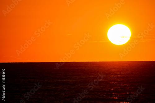 Poster Oranje eclat Beautiful Colored Sunset