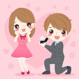 cartoon wedding people - 185863260