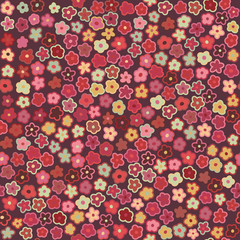 Vector floral pattern in doodle style with flowers. Can be used for textile, website background, book cover, packaging.