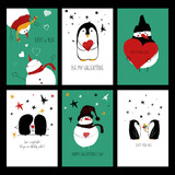 Funny Set Of Love Cards.