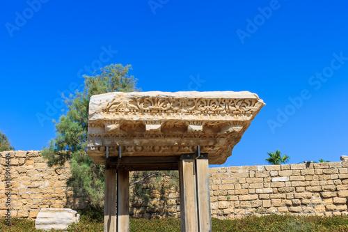 In de dag Stenen Antique stone at Caesary, Haifa.