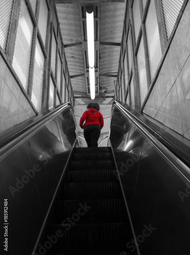 Poster Chicago Woman in red II