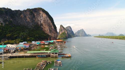 Aluminium Thailand Luftbild von Panyee Island in Thailand