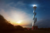 Curved Lighthouse - 185930468