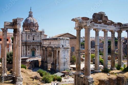 Fotobehang Rome Roman Forum, Rome, Italy