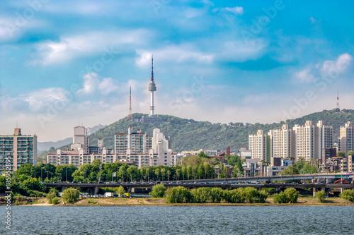 Deurstickers Seoel Seoul scenery that is seen across the Han River