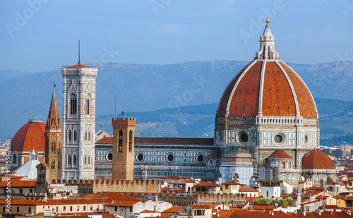 Deurstickers Florence Florence cathedral Duomo