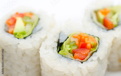Papiers peints Sushi bar vegetarian sushi rolls, macro