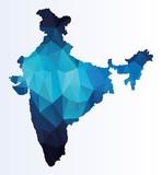 Poltgonal map of India
