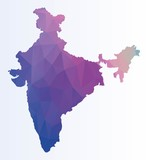 Poltgonal map of India