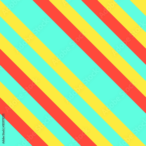 Materiał do szycia Seamless Memphis Graphic Retro Pattern with Neon Diagonal Stripes