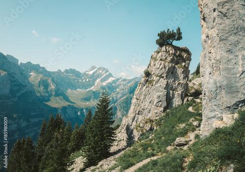 Foto op Aluminium Pool Trek under the Säntis Mountain in the Alpstein Mountains